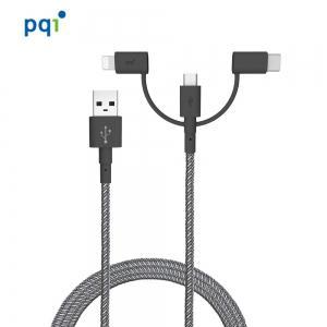 PQI i-Cable  3 合 1 多用途快速充電傳輸線(180cm)